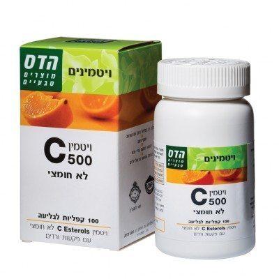 vitamin C  500 לא חומצי
